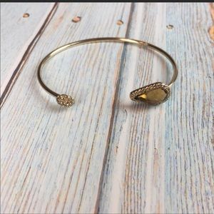 Gold Teardrop Jewel Bracelet